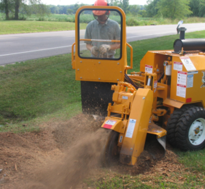 picture of a stump grinder in utah