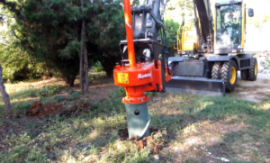 picture of a stump removal service in west jordan or south jordan